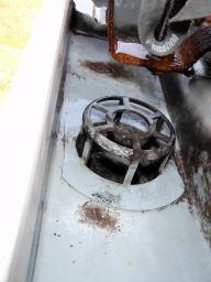 クリーニング後 集水器の上部です。ゴミで塞がっていましたが洗浄後は姿が出てきました。
