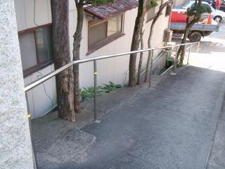 着手前 見ての通り根元をぐるぐるコンクリートで巻いています。